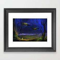 In The Light You Follow Me Framed Art Print