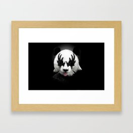 Panda rocks Framed Art Print