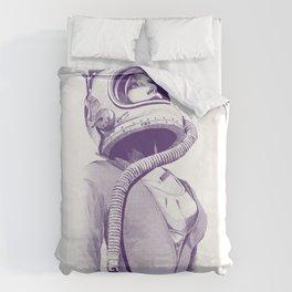 Space Woman Duvet Cover