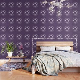 LAUBURU IN PURPLE (abstract geometric symbol) Wallpaper