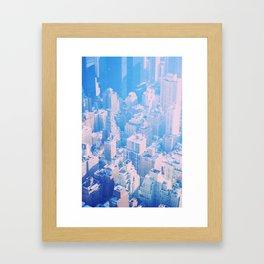 New York Point of Blue Framed Art Print