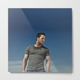 Chris Pratt - Celebrity (Oil Paint Art) Metal Print