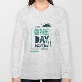 3/52: Psalm 84:10 print Long Sleeve T-shirt