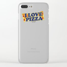 I love Pizza Clear iPhone Case