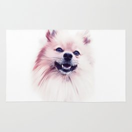 The Smiling Pomeranian Rug