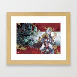 yokai parade Framed Art Print