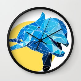 Poly Dolphin Wall Clock