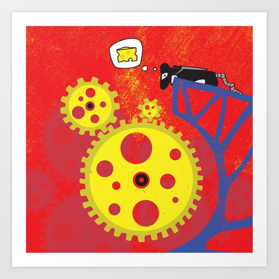 I Smell Cheese Art Print