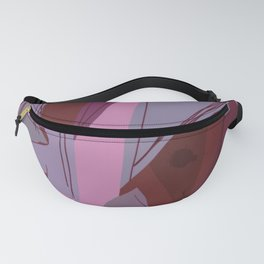 Cages at the Border Burgundy Tones #Abstract #Geometric #PoliticalArt Fanny Pack