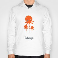 octopus Hoodies featuring Octopus by Jane Mathieu