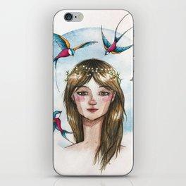 Pájaros en la cabeza iPhone Skin