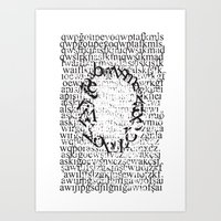 letters Art Prints featuring Letters  by Enver Yigit