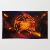 pentagram Area & Throw Rugs featuring Pentagram  by nicky2342