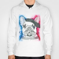 frenchie Hoodies featuring Frenchie by Irasema Langarica