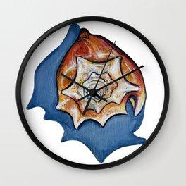 Three Seashells Wall Clock