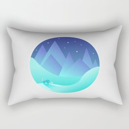 Night Fox Rectangular Pillow