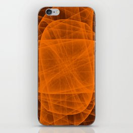 Fractal Eternal Rounded Cross in Orange-Brown iPhone Skin