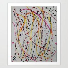 Abstract Splatter Art Print
