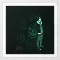 nico di angelo Art Prints featuring Nico Baby by the-haps
