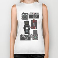 cameras Biker Tanks featuring Cameras by Illustrated by Jenny