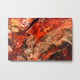 Scarlet Stone Metal Print