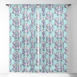 Benzene Molecule Organic Chemistry Pattern Sheer Curtain