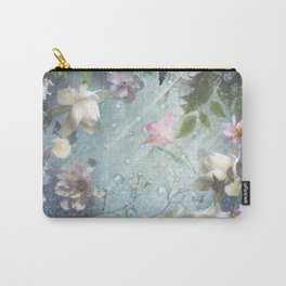 Flowers and Waters in Pale Pink and White Carry-All Pouch