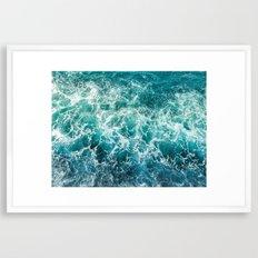 dancing waves Framed Art Print