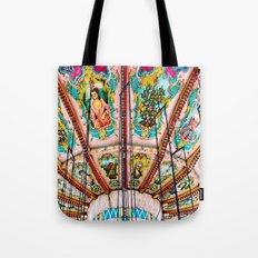 Victorian Carousel Swings Art Detail Tote Bag