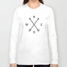 Compass (White) Long Sleeve T-shirt