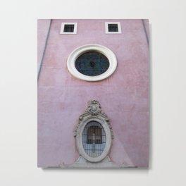 Pink Spanish Facade Metal Print