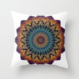 Mandala Sacred Geometry Prana Art Yoga Mantra Om Good Vibes Throw Pillow