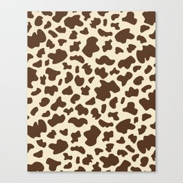 Cow Print in Brown Canvas Print