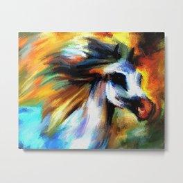Rainbow Horse Metal Print