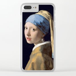 Girl With a Pearl Earring - Vermeer Clear iPhone Case