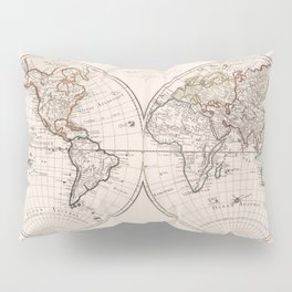 Vintage Map of The World (1804) Pillow Sham
