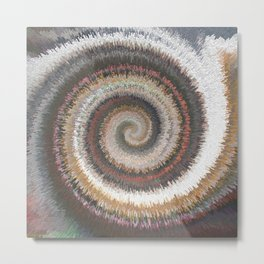 Swirls of digital paint suitable as background for projects on art, creativity and education Metal Print