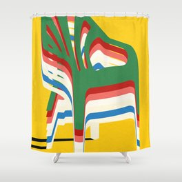 Stack of Monobloc Plastic Chairs Shower Curtain