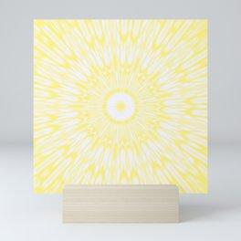 Lemon Yellow Kaleidoscope Mini Art Print