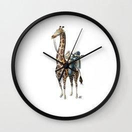 Numero 6 -Cosi che cavalcano Cose - Things that ride Things- Wall Clock