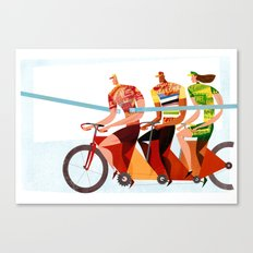 Bicycle Tour de France Tandem for Three Canvas Print