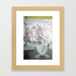 Pink, Grey and Lime Framed Art Print