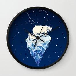 Polar bears on iceberg Wall Clock