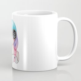 Summer Vibes Colourful Hair Girl Drawing Coffee Mug