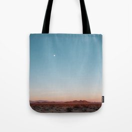 Desert Sky with Harvest Moon Tote Bag