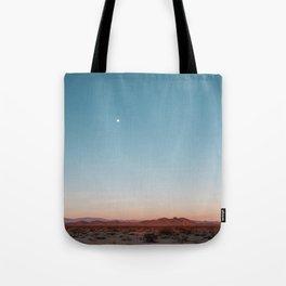 Desert Sky with Harvest Moon Tote Bag