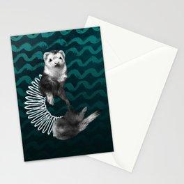 Ferret Slinky Stationery Cards