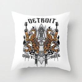 """DETROIT ; DON'T HATE' "" Throw Pillow"