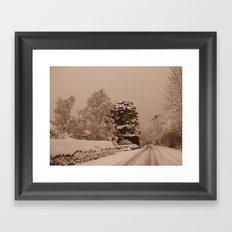 Snow in Windsor Framed Art Print