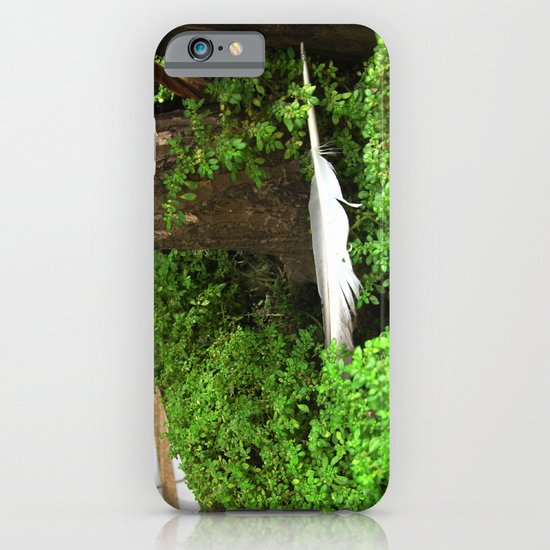 Feather In Green iPhone & iPod Case